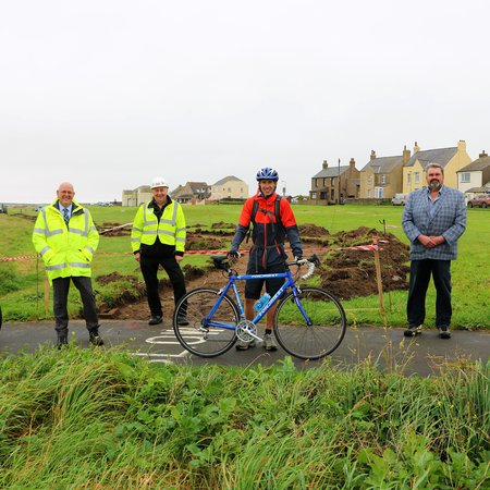 Work begins on new cycleway for Solway Coast