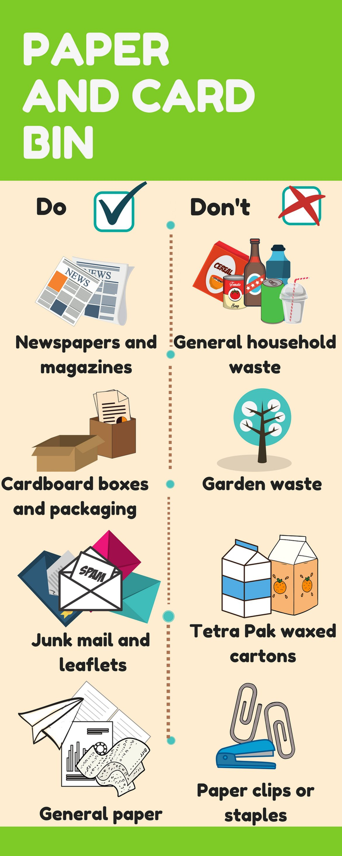 Paper and card infographic