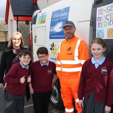 Pupils' artwork goes on display... on Allerdale roadsweeper