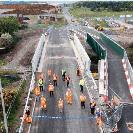 Port of Workington railway bridge reopens to motorists