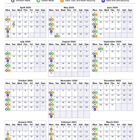 Printable yearly bin collection calendar launched in Allerdale