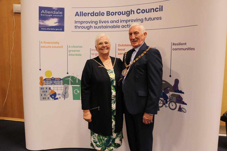 Mayor Cllr Malcolm Grainger and his consort, Betty Grainger