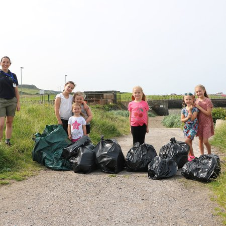 Six-year-old's fight against littering on Cumbrian coast