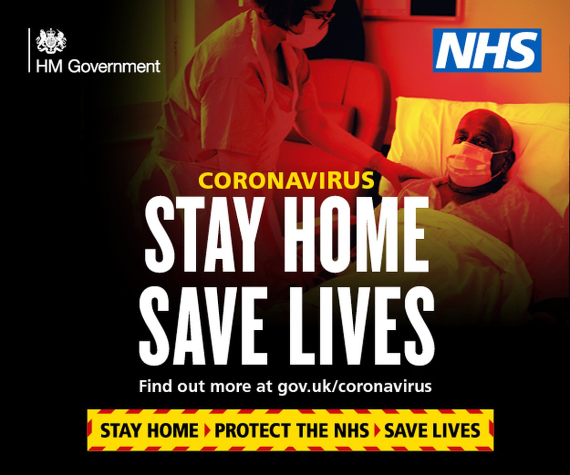 Stay Home Save Lives image for coronavirus restriction advice