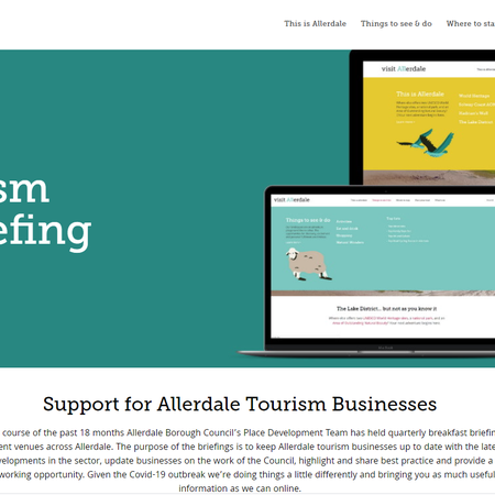Allerdale's tourism breakfast briefing goes virtual